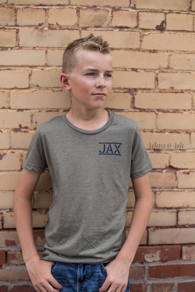 JAX Flag tee in Olive
