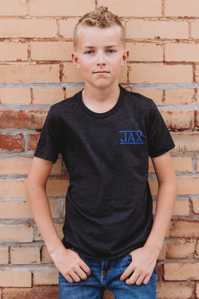JAX Flag tee in Charcoal