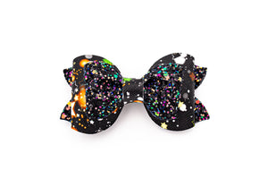 Galaxy Glitter Pinch Pleat Stacked Bow  #2