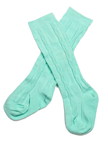 Mint Ivy Knee High Socks