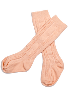 Peach Ivy Knee High Socks