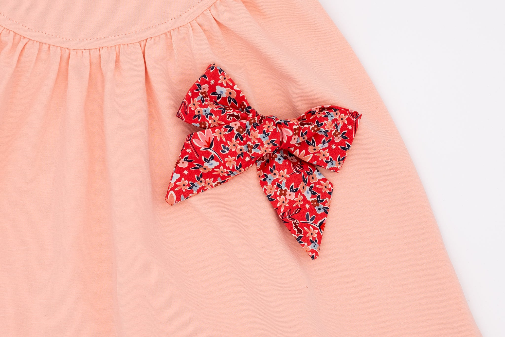 Spring Floral Hand made Fabric Bow - Love, Nana