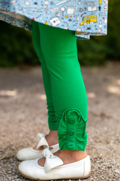 Bettie Buttons Leggings in Green