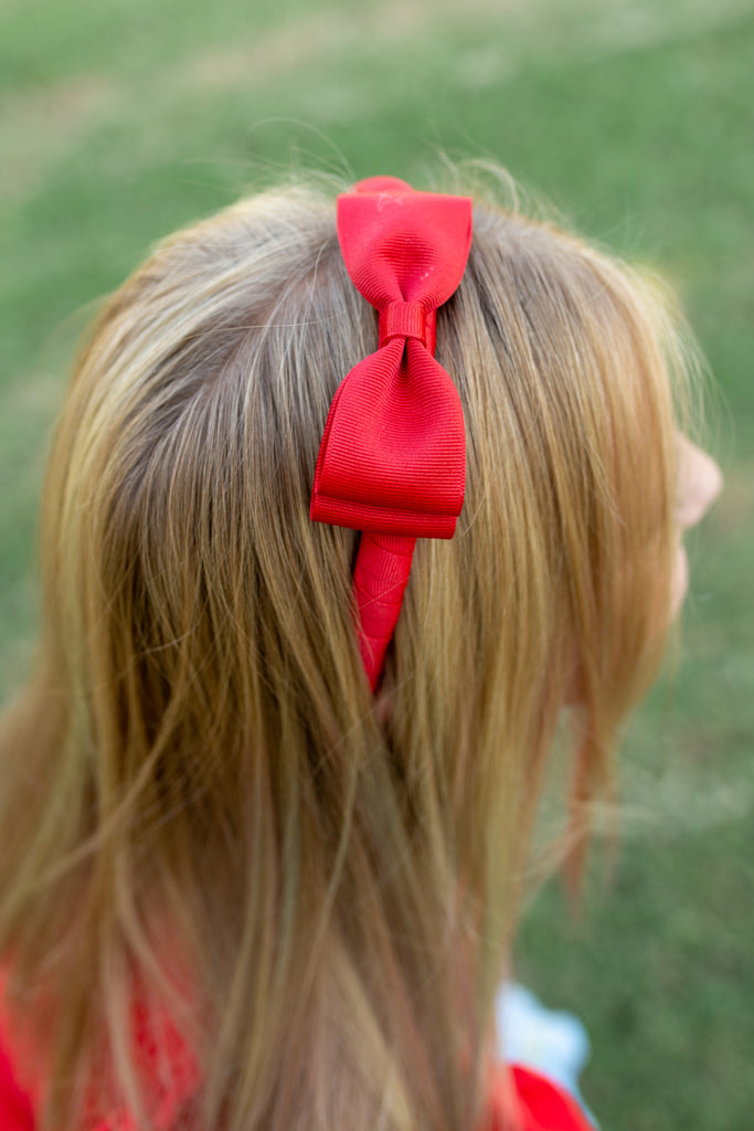 Red Back to School Headband