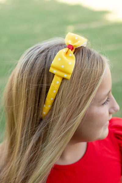 Yellow Dot Back to School Headband