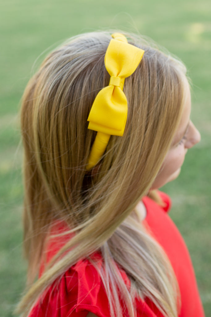 Yellow Back to School Headband