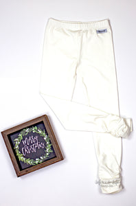 Ava Ruched Leggings in Soft White