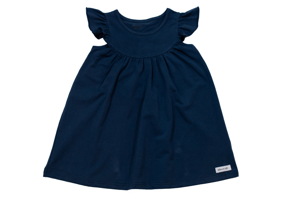 Navy Pretty Pearl Dress