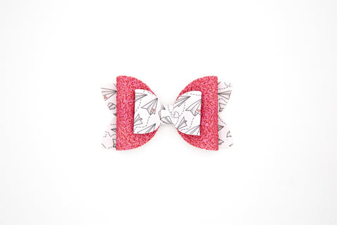 Valentine Double Stack Diva Bow #2