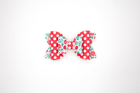 Valentine Double Stack Diva Bow #6