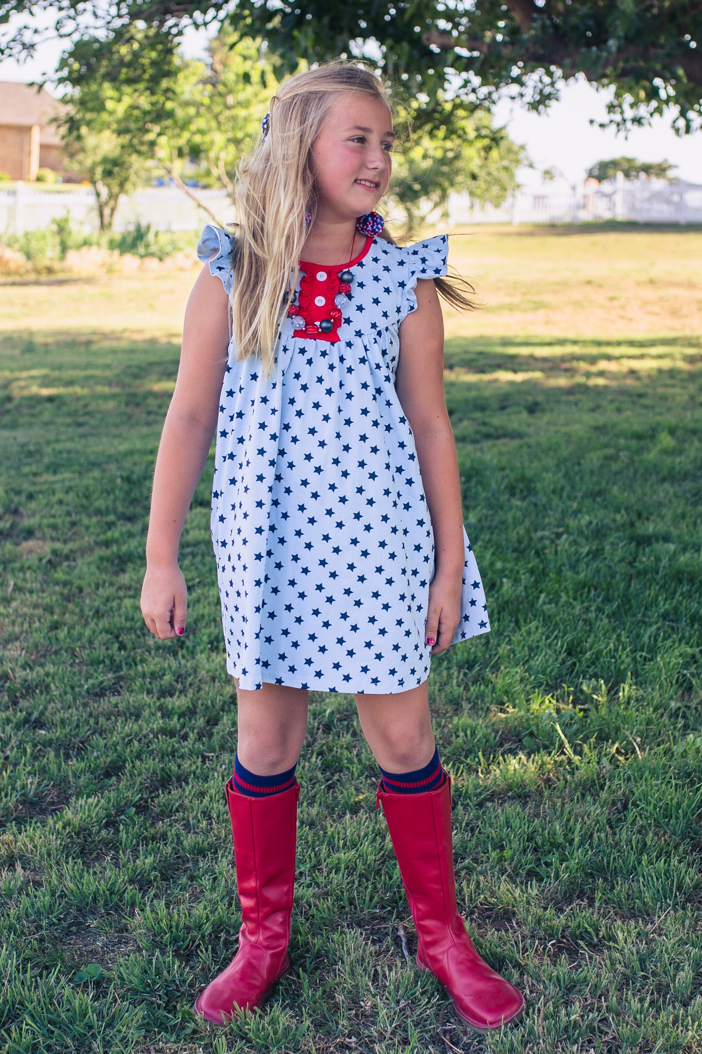 Perfectly Patriotic Pretty Pearl Dress