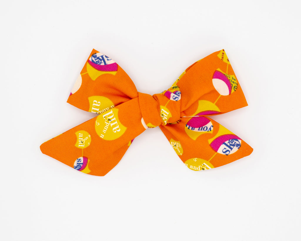 Nelly Madison Halloween Match Fabric Bow -- Love, Nana