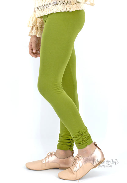 Ava Ruched Leggings in Olive