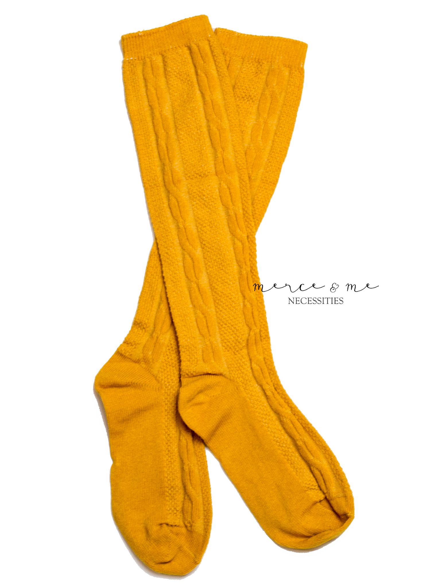 Mustard Ivy Knee High Socks