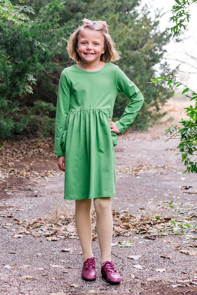 Penny Pocket Dress in Vintage Green