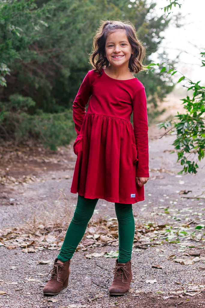 Penny Pocket Dress in Cranberry