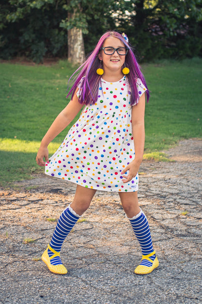 Back To School Dots Dress