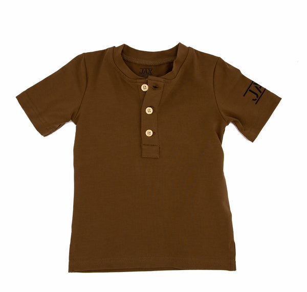 JAX Brown Henley