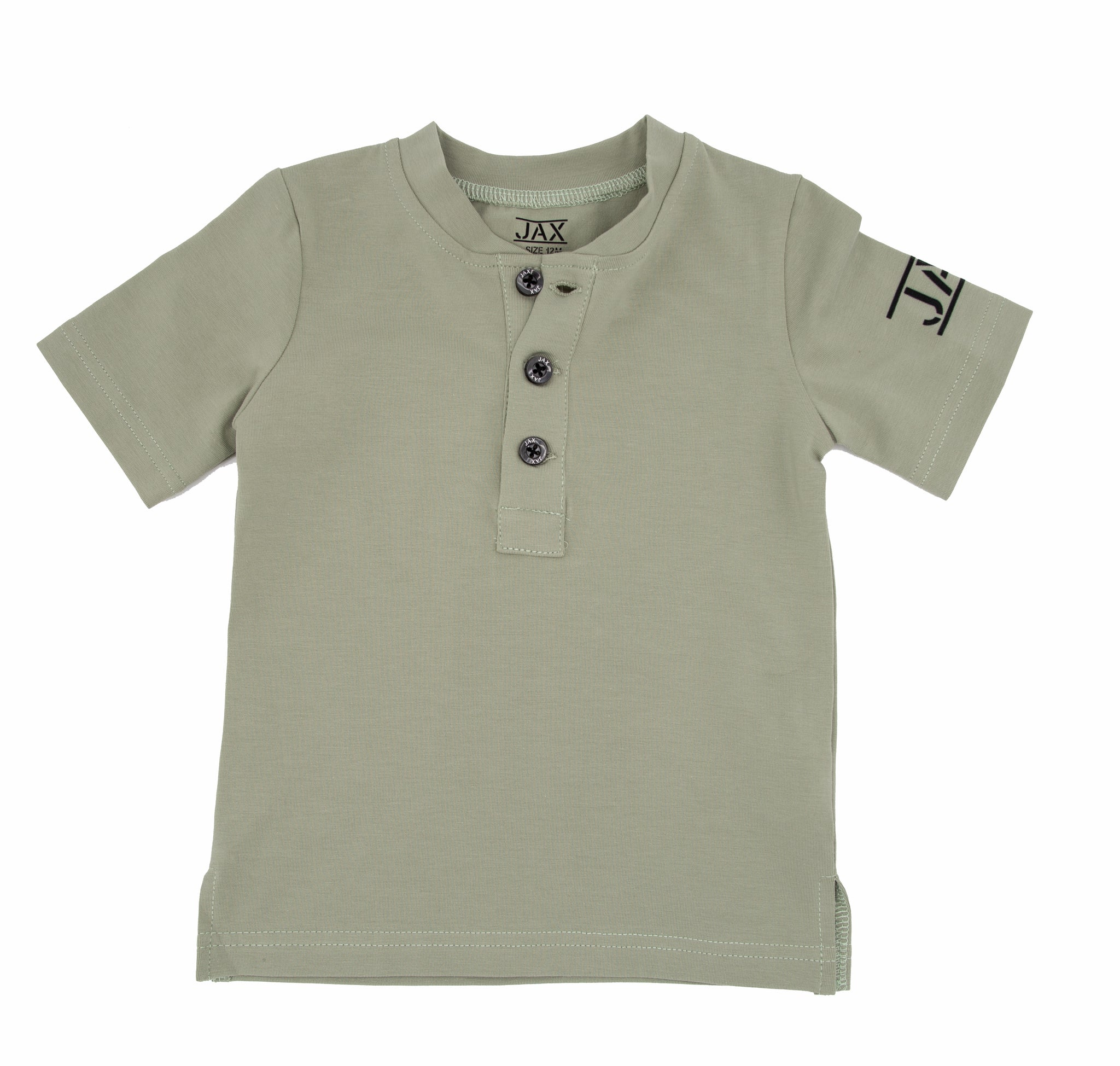 JAX Dusty Sage Henley