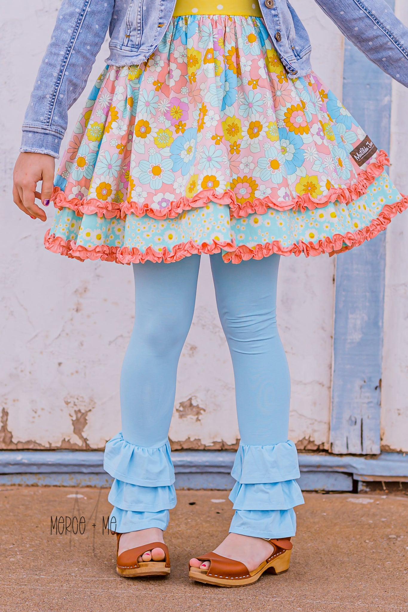 Blue Cotton Candy Rosie Ruffle Pants