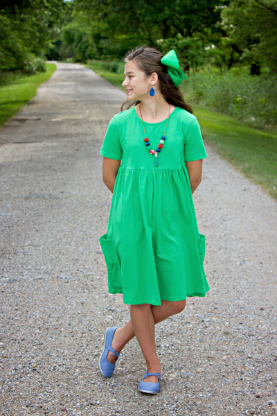 Grass Green Annie Dress