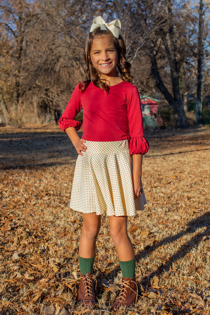 Holiday Dot Twirl Skirts