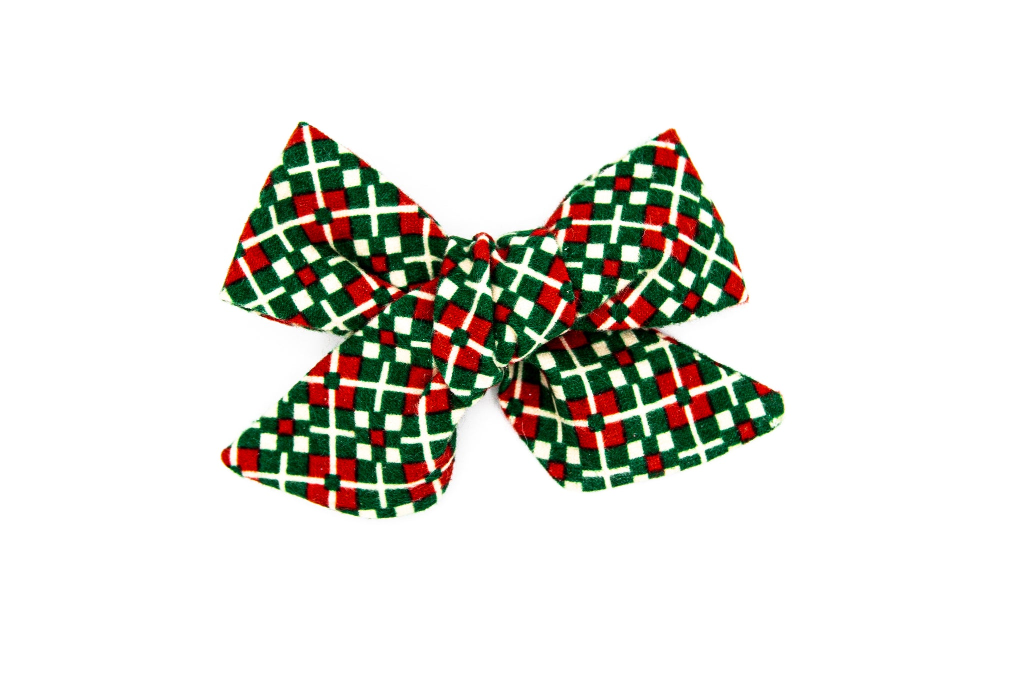Holly Jolly Flannel Hand-tied bow -- Love Nana