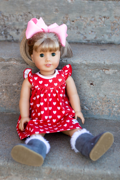 STYLED DOLL + JEWELS SET. No Child Dress included.