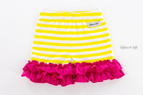 Yellow Stripe Rosie Ruffle Shorties