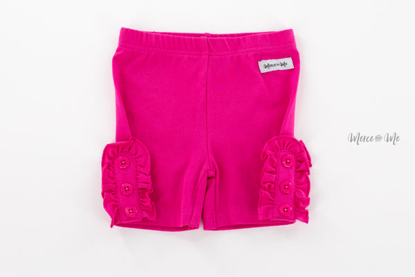 Fuchsia Bettie Buttons Shorties