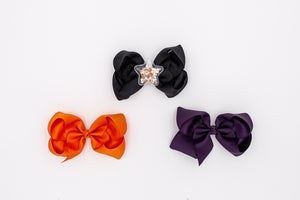 Glow in the Dark Pumpkins Bestie Bow