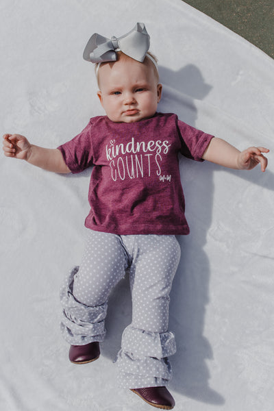 Heather Maroon Kindness Counts Tee -- Baby/Toddler