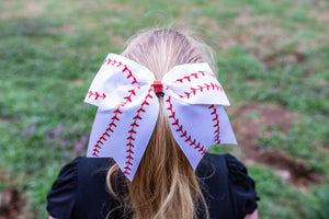 Baseball Cheer Bows