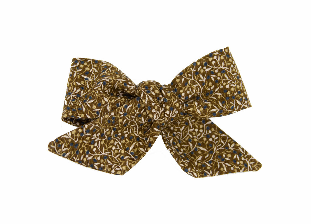 Juniper Berries Love Nana Fabric Bow