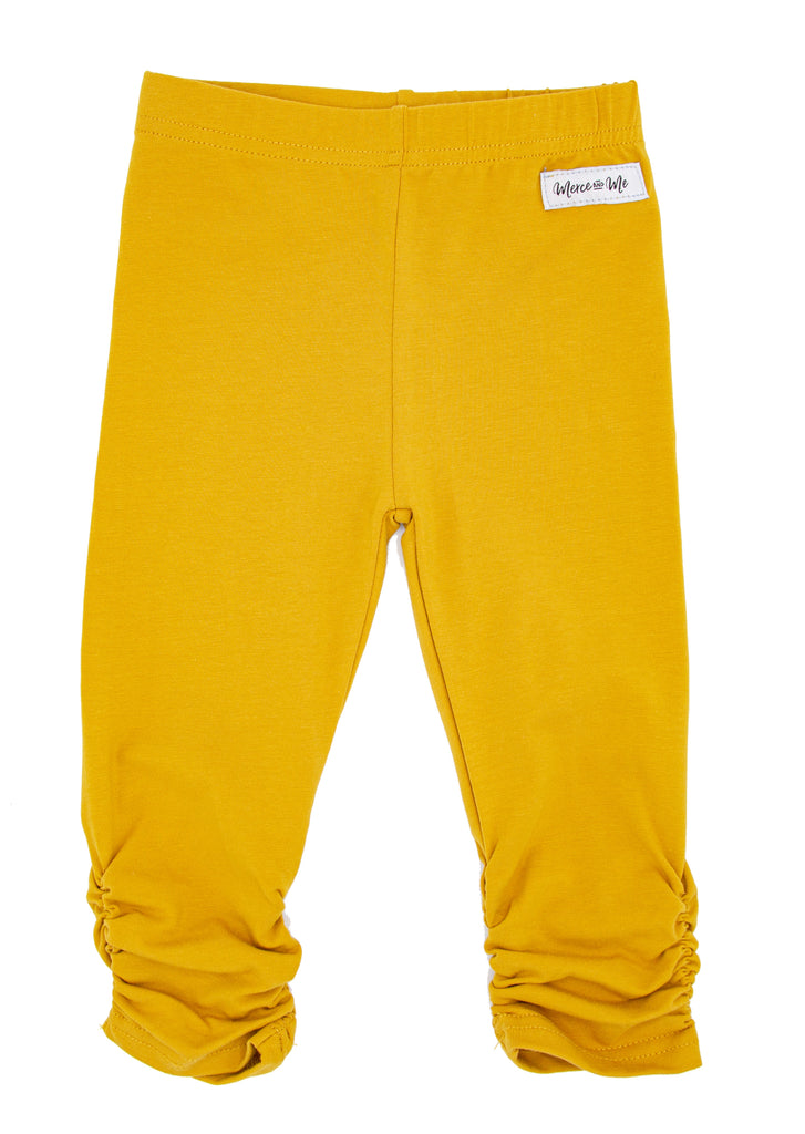 Mustard Ava Ruched Leggings