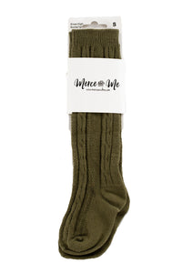 Olive Ivy Knee High Socks