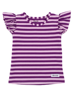 Purple Stripe Bonnie Flutter Tank