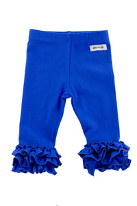 Iris Ruffle Leggings in Royal