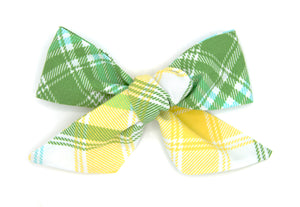 St. Patty's Day Plaid  Handmade Bow -- Love Nana