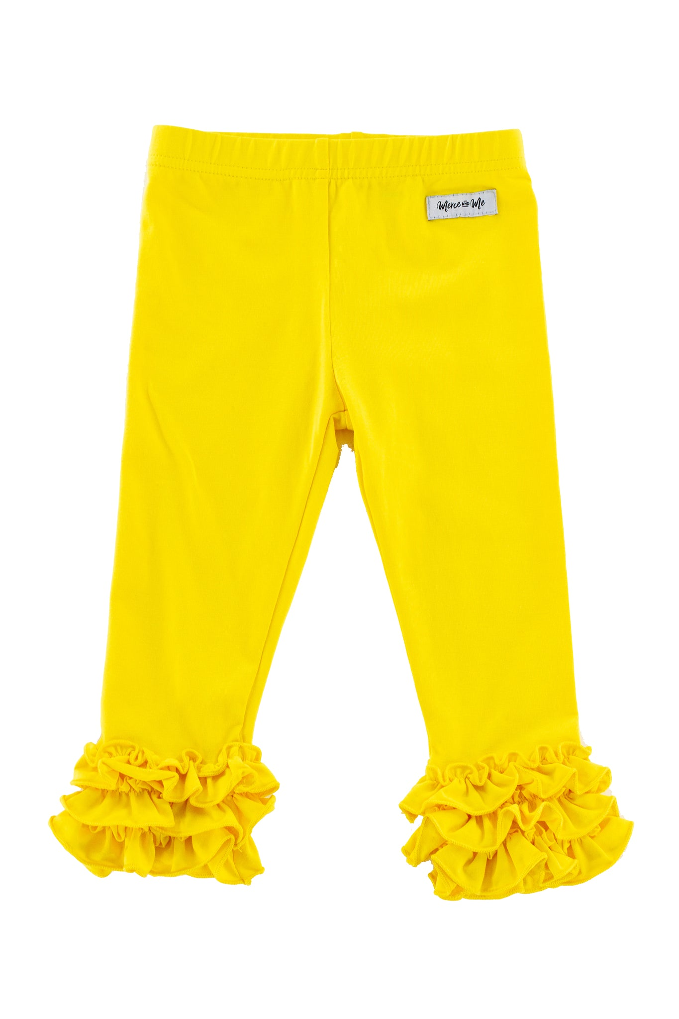 Iris Ruffle Leggings in Yellow