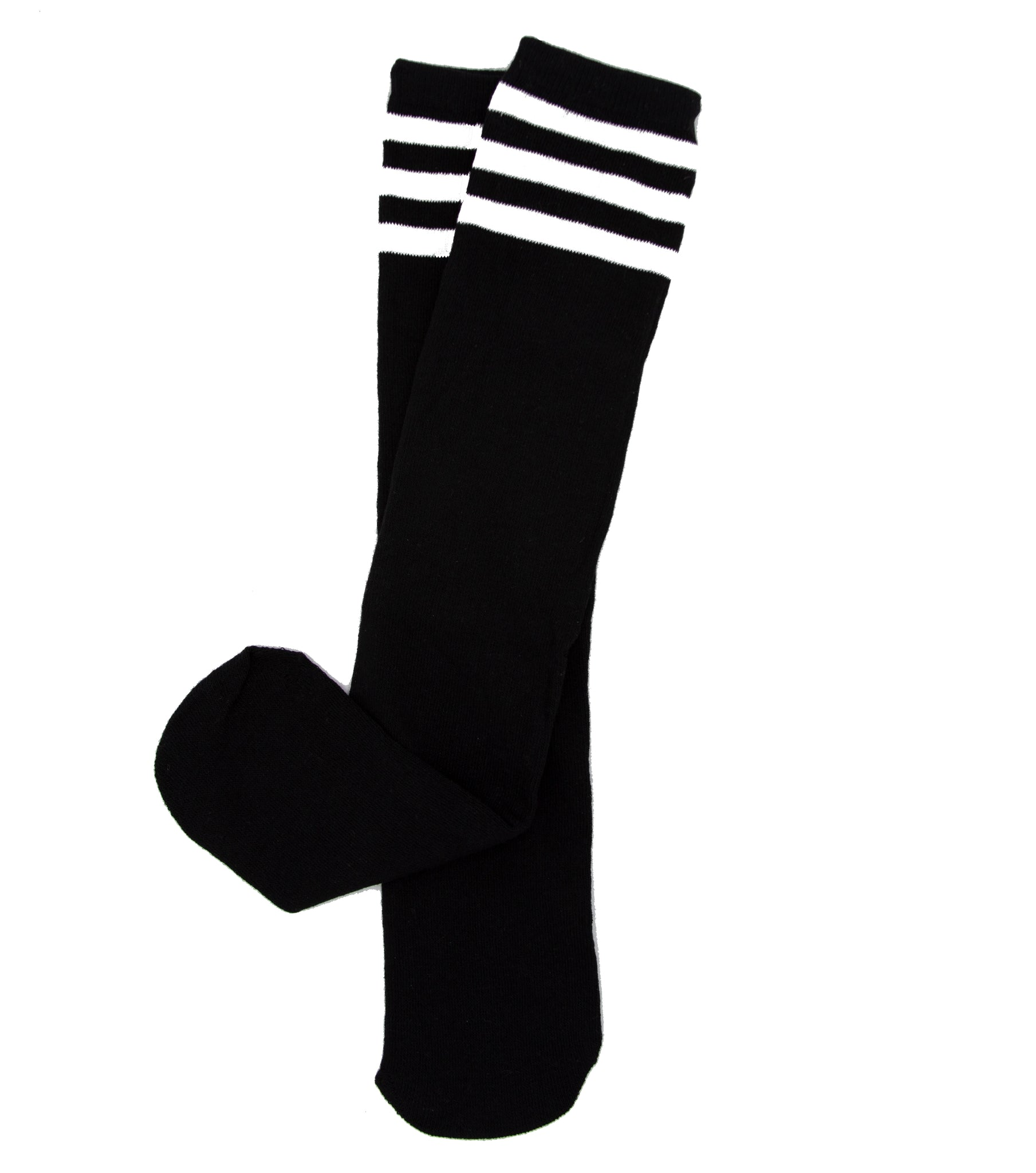 Black Baseball Striped Tube Socks