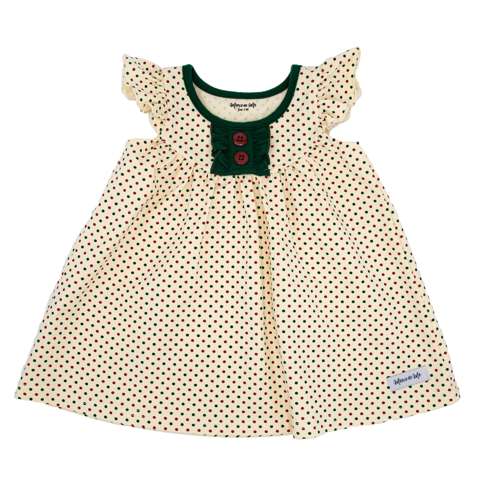 Holiday Dots Pretty Pearl Dress