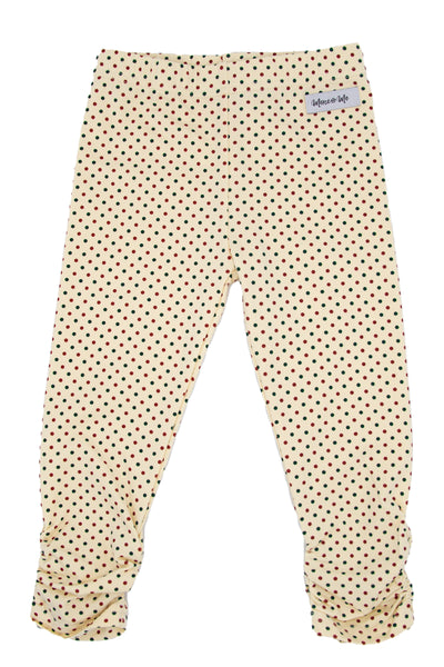 Holiday Dots Ava Ruched Leggings