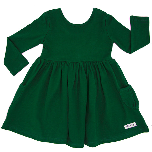 Penny Pocket Dress in Evergreen