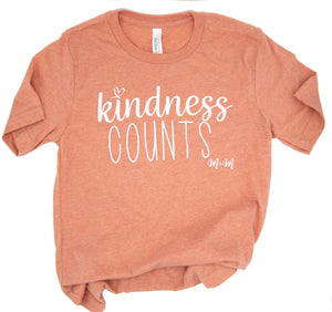 Heather Sunset Kindness Counts Tee -- Adult
