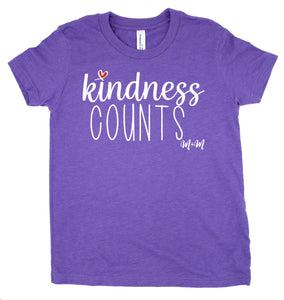Heather Team Purple Kindness Counts Tee -- Youth