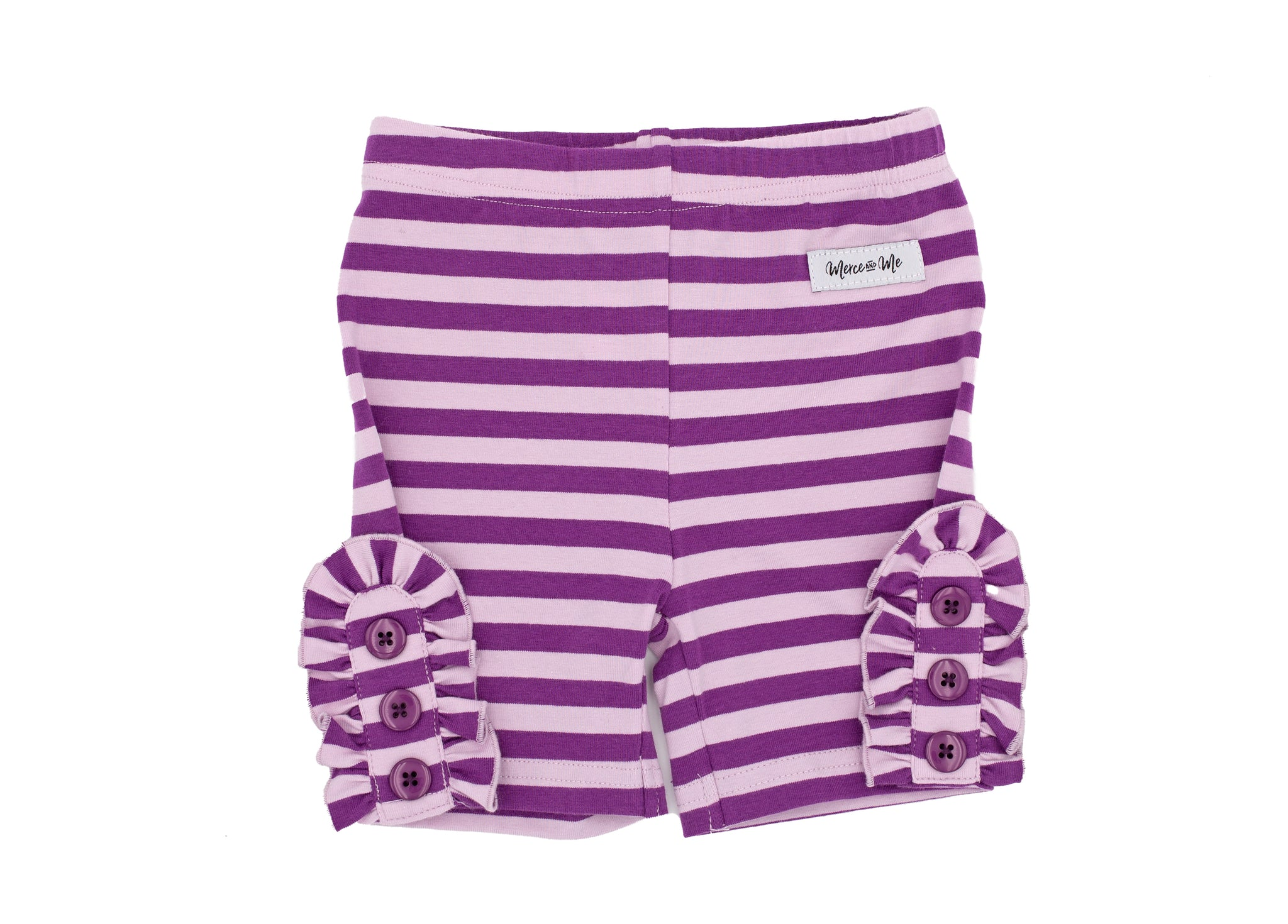 PURPLE STRIPE BETTIE BUTTONS SHORTIES