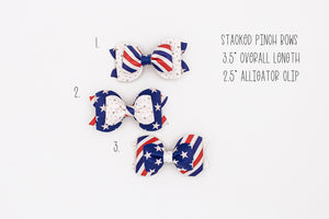 Stars & Stripes Stacked Pinch Bows