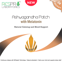 Respro Labs Natural Ashwagandha Patch with Melatonin, Continuous Release (24 Patches)