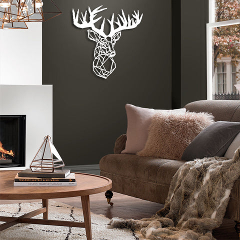 stag wall decor living room
